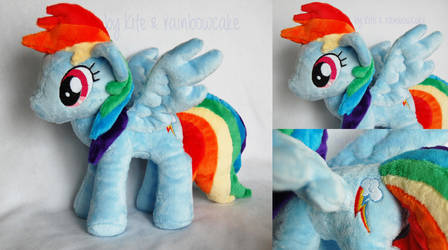 My Little Pony Plush Rainbow Dash by Rainbow-Kite