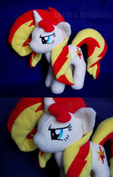 My little Pony Sunset Shimmer Plush by Rainbow-Kite