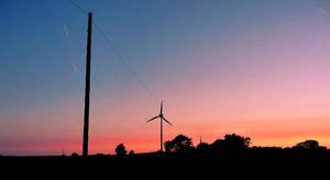 summer windturbine sunset by sophhks