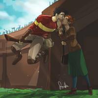 Kiss for luck by sharadaprincess