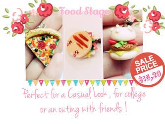 Earring Food Cute!!! The best price!!! by HopandPolhaClay