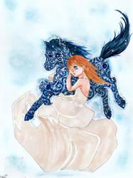 Blue Horse by Genki-Chu-Hi