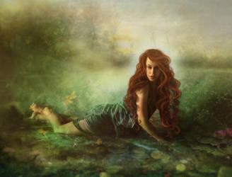 fantasy lake by SweetDreamsArt