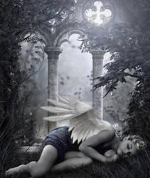 Sleeping Angel Fairy by SweetDreamsArt