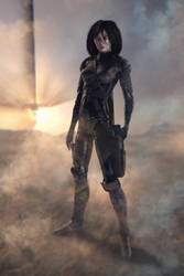 Battle Angel Alita fanart non canonical test image by m000V