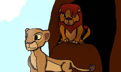 Simba And Nala by allyandthedino