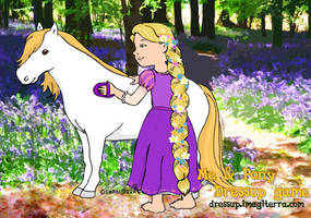 Rapunzel and Maximus (Tangled) by gianjos