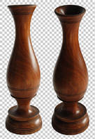 Wooden vase PNG by raduluchian