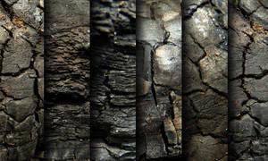 Charred wood - texture pack by raduluchian