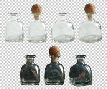 Small glass bottle PNG by raduluchian