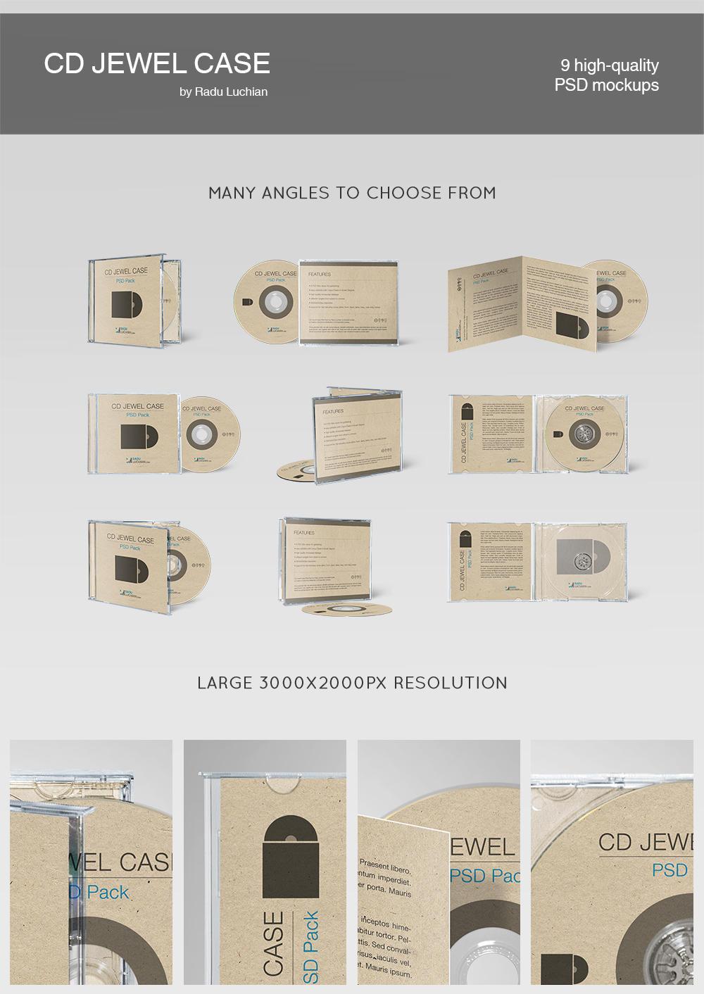 CD jewel case template by raduluchian