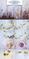 Rusty white metal by raduluchian