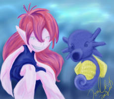 Betta and Horsea by Tomeka04