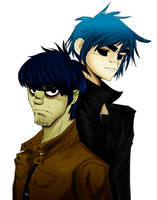 Murdoc Vs 2D by Nadin-Black