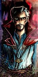 Strange Sketch Watercolor by Nadin-Black