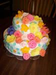 Flower Cake by annasaphiree