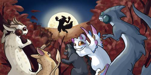 Halloween Task- Awoo by xaotl