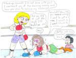 Angelica vs Peppermint Patty - Boxing by Jose-Ramiro
