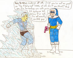 Captain Cold vs Quicksilver by Jose-Ramiro