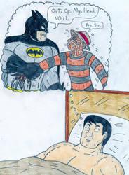Bruce and Freddy - Nightmare on Wayne Manor by Jose-Ramiro