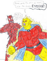 Etrigan vs Carnage by Jose-Ramiro
