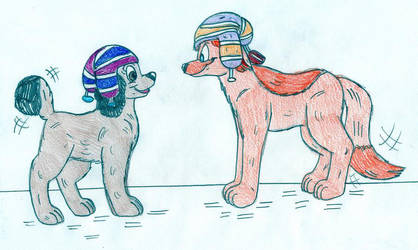 Dil and Mona - Dogs by Jose-Ramiro