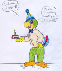 August's birthday card by Jose-Ramiro