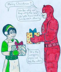 Xmas - Toph and Daredevil by Jose-Ramiro