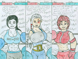 Boxing You vs Videogame Gals by Jose-Ramiro
