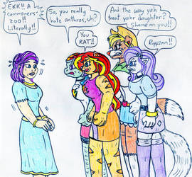 Equestria Girls Anthros and Spoiled Rich by Jose-Ramiro