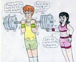 Gym Couple - Mavis and Jonathan by Jose-Ramiro