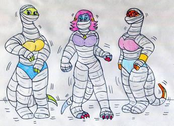 Dino Mummy Dancers by Jose-Ramiro
