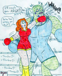 Boxing Thundra vs Abomination by Jose-Ramiro