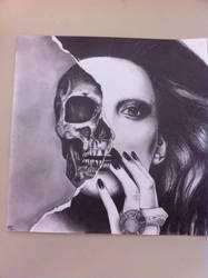 Woman Skull by Maria-Luca