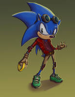 Sonic got some new gear. by EleMont