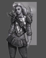 Nonsensical Armour Girl by EleMont