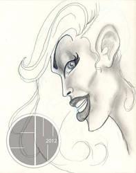 Lady sketch 1 by shelWonder