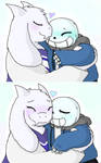 Soriel smooches by Paddiefrog