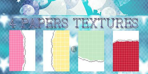 4 texturas de papel EV by EditorialVip