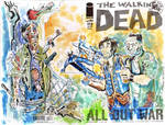 Walking Dead Dixon Bros SKetch Cover by mannycartoon