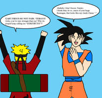 Naruto ranting to Goku by Kaiju-Borru-Zetto
