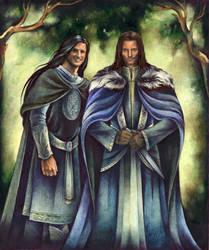 Aragorn and Eldarion by ebe-kastein