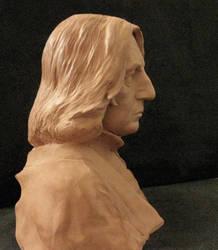 Severus Snape portrait bust. 4. 2012 by MarieChristensen