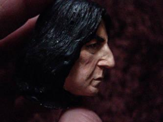 Severus Snape mini portrait painted 1 by MarieChristensen