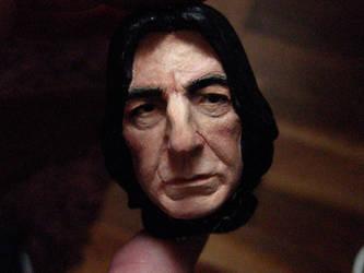 Severus Snape mini portrait painted 2 by MarieChristensen