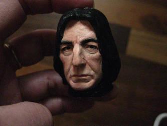 Severus Snape mini portrait painted 4 by MarieChristensen