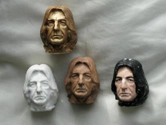 Severus snape portrait heads 2012 by MarieChristensen