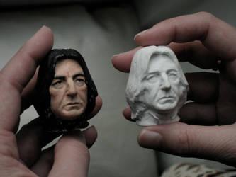 Severus Snape double portrait heads 2012 by MarieChristensen