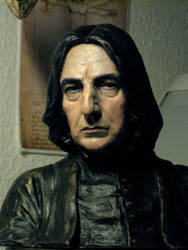 Painted Severus Snape bust 2012 by MarieChristensen