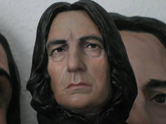Severus Snape bust painted. 2012 by MarieChristensen